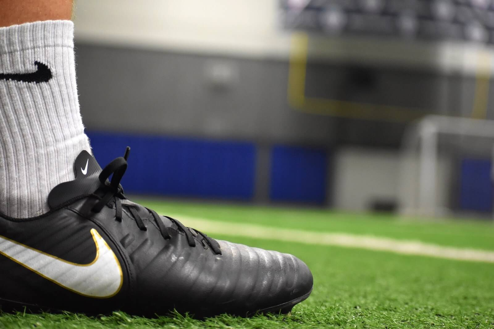 Soccer Cleat on Turf